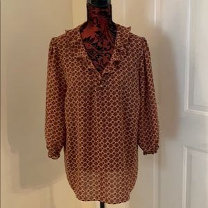 Women's Blouse Peasant Style XL Perfect Shape!